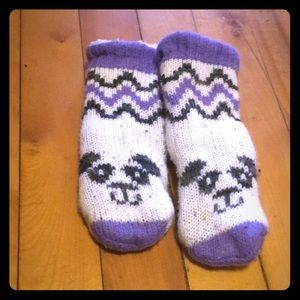 Other - Polar bear fuzzy socks